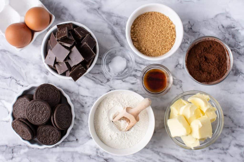 Oreo Brownie Cupcakes Ingredients